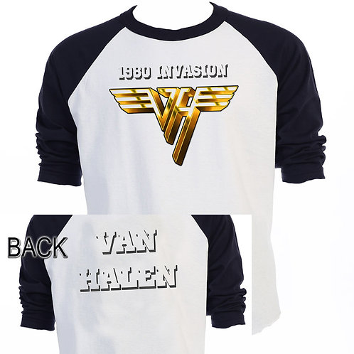 "VAN HALEN,""1980 Invasion TOUR"", T-SHIRT T-631"