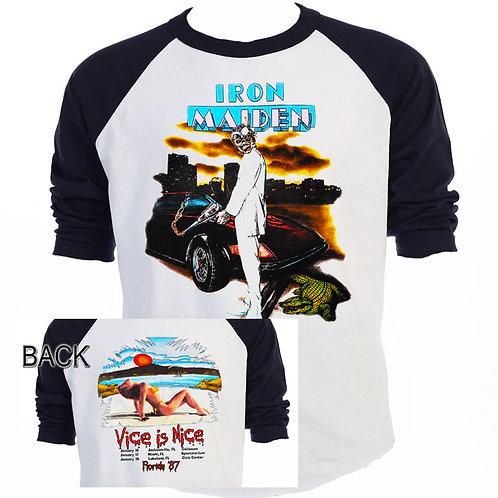 "IRON MAIDEN,""Vice is Nice"" 87 Tour"" Florida T-572"