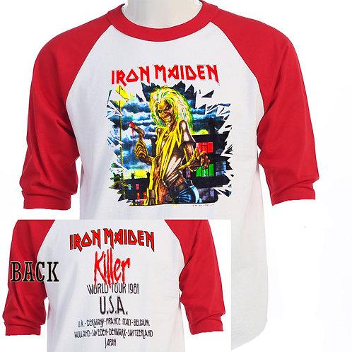 """IRON MAIDEN,""""Killers Tour"""" 81 US-Euro T-410Red"""
