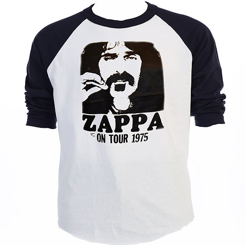 "FRANK ZAPPA,""ON TOUR 1975"" Baseball T-637Blk"