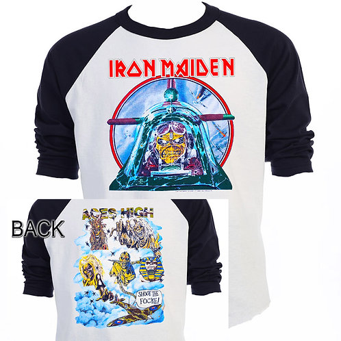 "IRON MAIDEN,""Ace's High"" Tour RETRO T-519Blk"