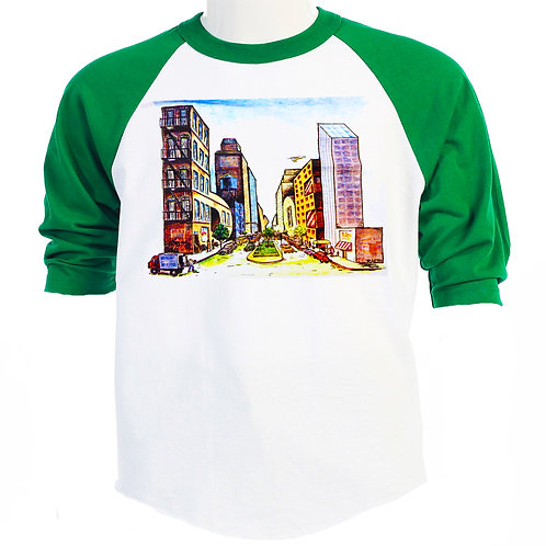 BILLY JOEL,Classic NY Buildings Tour Baseball T