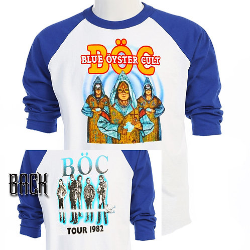 BOC,Fire of Unknown Origin 82 Tour RETRO T-449Blue