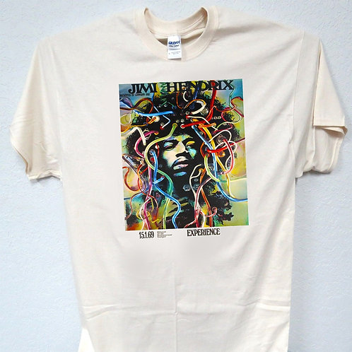 "JIMMY HENDRIX, 60's Band, ""Colorful Art"", Cool!! T-SHIRT, ALL SIZES,T-321"