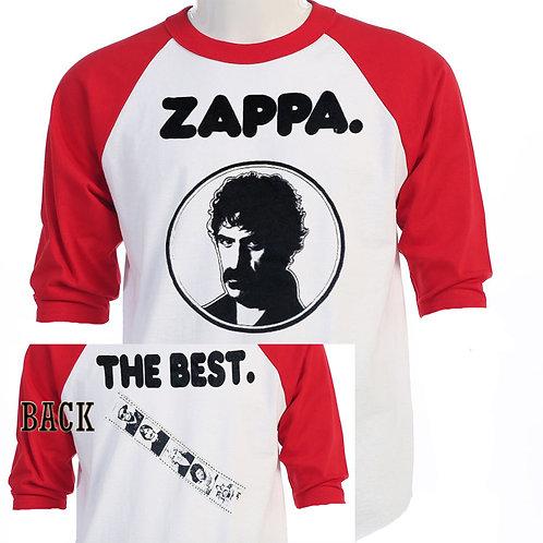 FRANK ZAPPA,Late 60's RETRO Baseball T-595Red