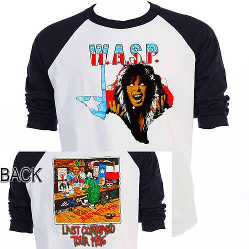 WASP,Blind In Texas 86 Tour,Raglan Shirt,T-921Blk