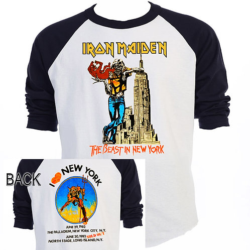 "IRON MAIDEN ""Beast in New York 82"" TOUR T-529"