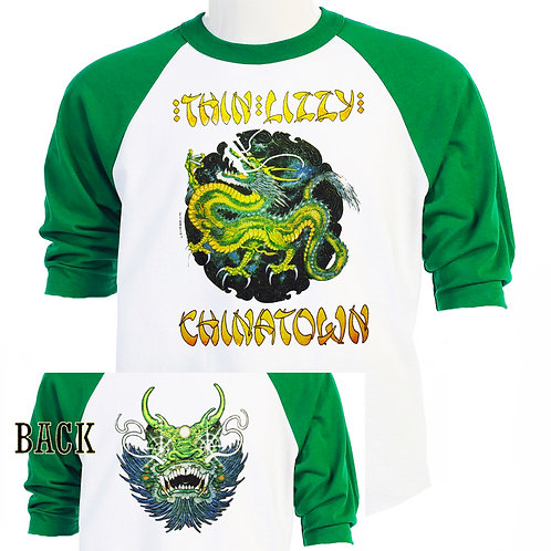 THIN LIZZY,Chinatown 80 Tour RETRO T-459Green