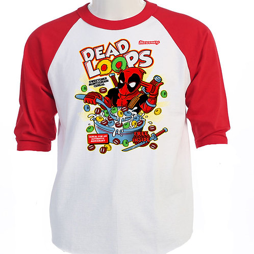 """DEADPOOL,Inspired,""""DEAD LOOPS"""" T-SHIRT T-416Red"""