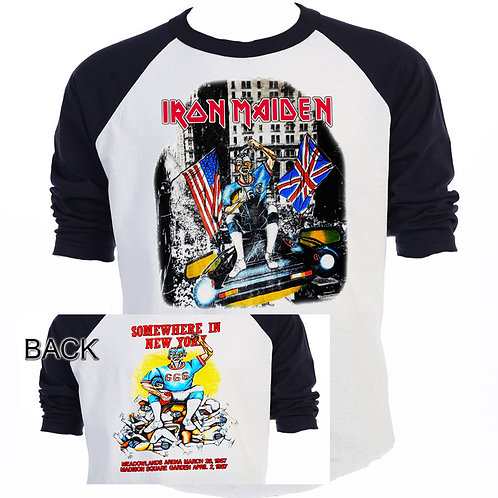 """IRON MAIDEN,""""Somewhere in NY 1987 Tour"""" T-574Blk"""