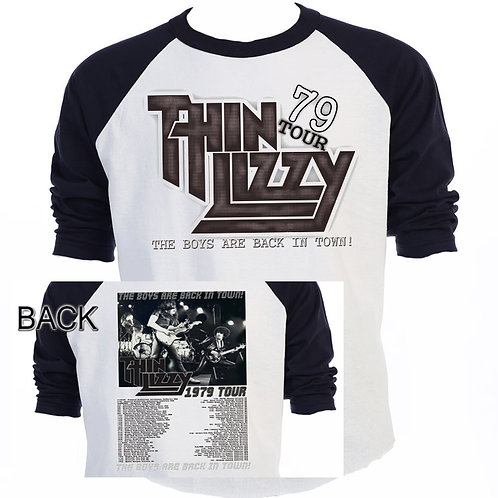 "THIN LIZZY,""79 TOUR"",Dates Back,Retro T-346"