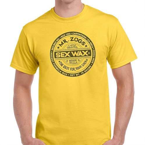 SEX WAX, Surfer T&C SURF T-SHIRTS, SIZES S-5XL,T-1437,YELLOW