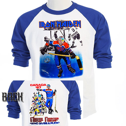"""IRON MAIDEN,Canada """"Who Gives a Puck"""" 87 T-697"""