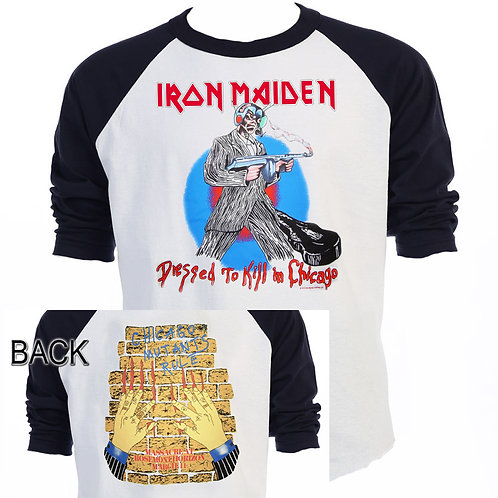 IRON MAIDEN,Dressed To Kill, Chicago T-611Blk