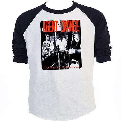 AGENT ORANGE  Baseball T-Shirt,T-916Blk