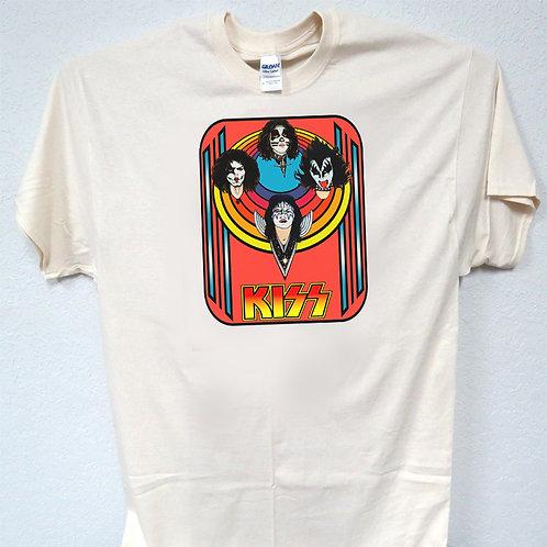 KISS,1977 Blacklight Poster Art Shirt Retro Look, Sizes 3-5xl, T-Shirt T-329Iv