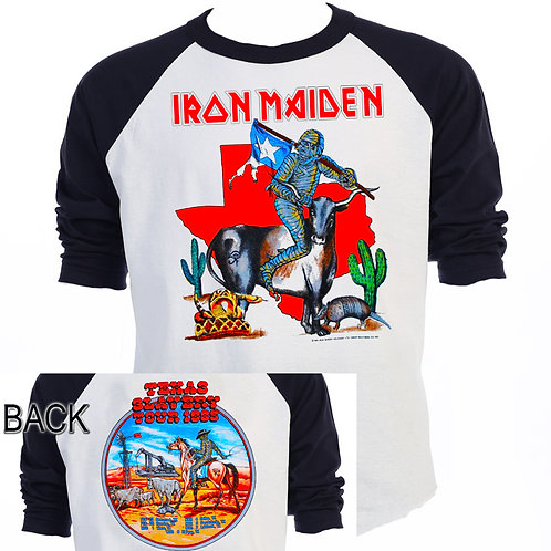 "IRON MAIDEN,""Texas Slavery"" Tour Shirt T-938Blk"