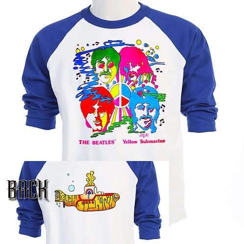 THE BEATLES,Yellow Submarine CLASSIC T-566Blue