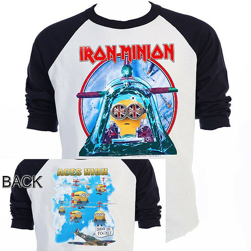 The MINIONS,Iron Maiden,Inspired,Aces High,Tour T-SHIRTS,SIZES S-5XL,T-1429