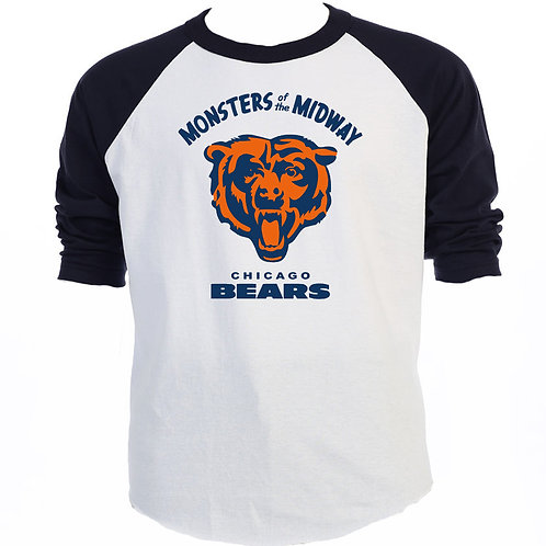 THE BEARS, LOGO, Cool BLACK Baseball Shirt T-1360