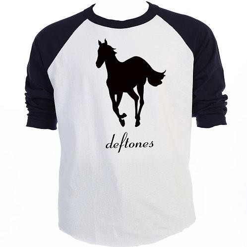 DEF TONES, Classic Black Horse, RETRO T-SHIRT