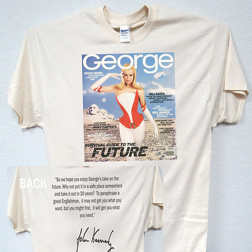 "GEORGE MAGAZINE,Feb,1997""Survival Guide To The Future"" TRUMP ,Q T-Shirt t-1578"