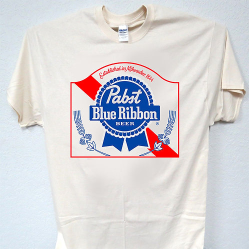 PABST BLUE RIBBON, PBR, BEER inspired Logo T-SHIRT,S-5X,T-1173Ivy