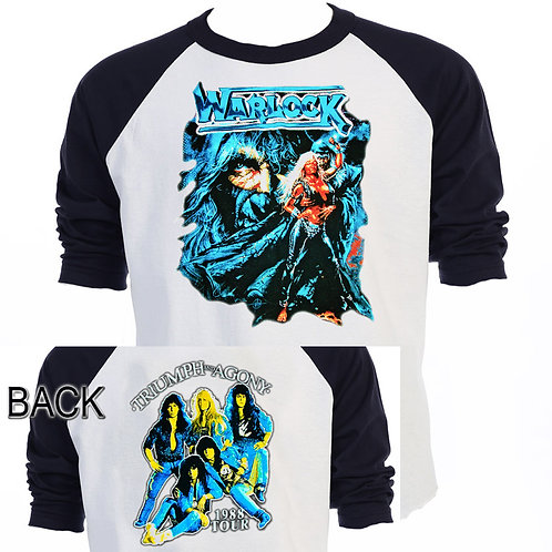 "WARLOCK,""Triumph And Agony Tour"" Baseball T-701Blk"