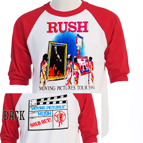 RUSH,Moving Pictures Tour Baseball Concert T-598Re
