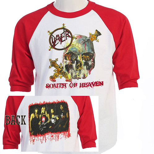 "SLAYER,""South of Heaven ""RETRO TOUR Baseball T-312"