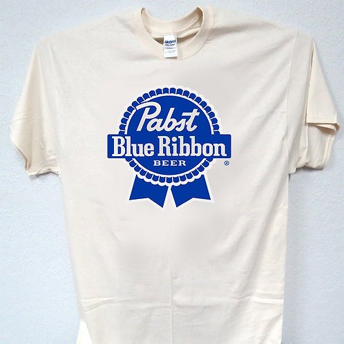 copy of PABST BLUE RIBBON, PBR, BEER inspired Logo T-SHIRT,S-5X,T-1172Ivy