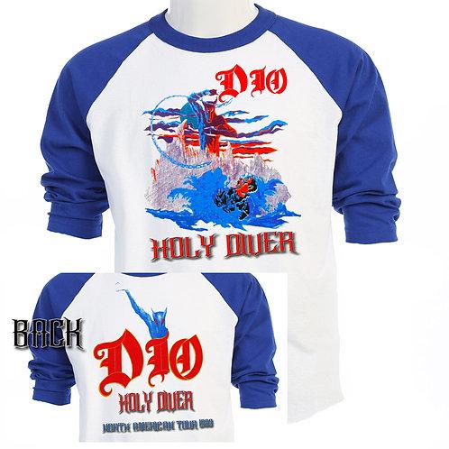 "DIO,""Holy Diver"" 84 WORLD TOUR Baseball T-399"