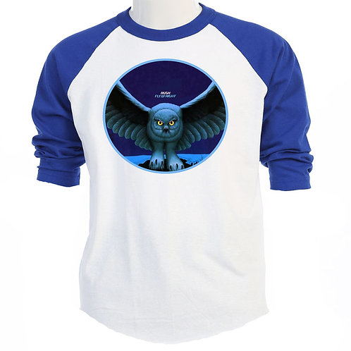 RUSH, Fly By Night, Cover,  Baseball T's Sizes S-3XL, T-Shirts S-3XL, T-1238