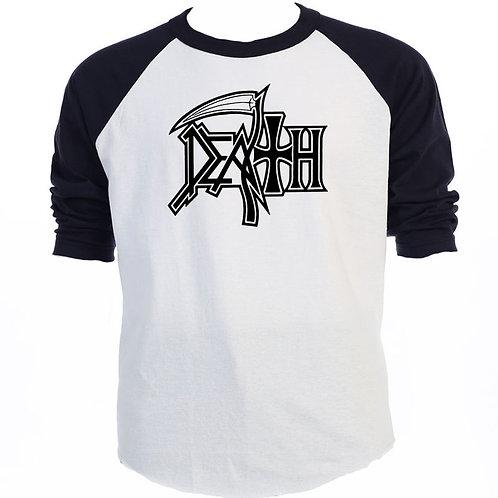 "DEATH,""Classic Logo"" Baseball Raglan T-SHIRTS,S-3XL, T-1155Blk"