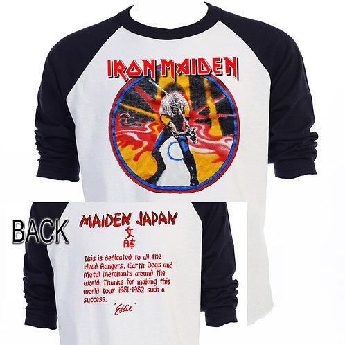 """IRON MAIDEN,""""Maiden Japan 81-82"""" Tour Baseball T"""