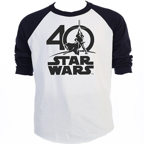 STAR WARS, 40TH Anniversary, COOL BaseBall T-SHIRT,S-3X,T-1185