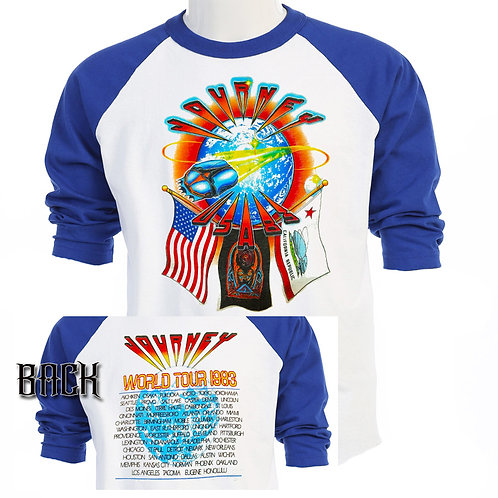 "JOURNEY 1983 ""Frontiers""""RETRO TOUR Baseball T-313"