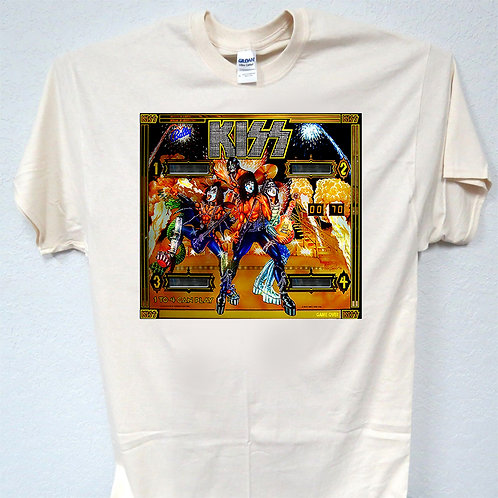 KISS, Pinball, Old School Cool, Ivory T-SHIRT T-200