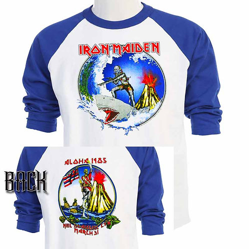 IRON MAIDEN,Aloha, HAWAII 1985 TOUR T-651Blue