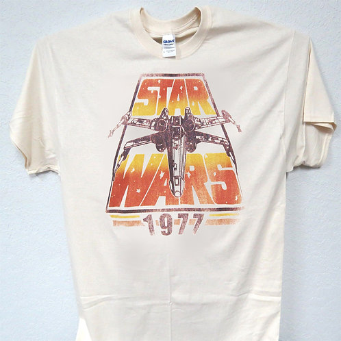 STAR WARS 1977 VINTAGE Ivory T-SHIRT T-1189