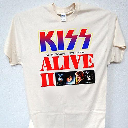 KISS,Alive 2,1977-78 Tour Shirt Retro Look, Sizes 3-5xl, T-Shirt T-319Ivy