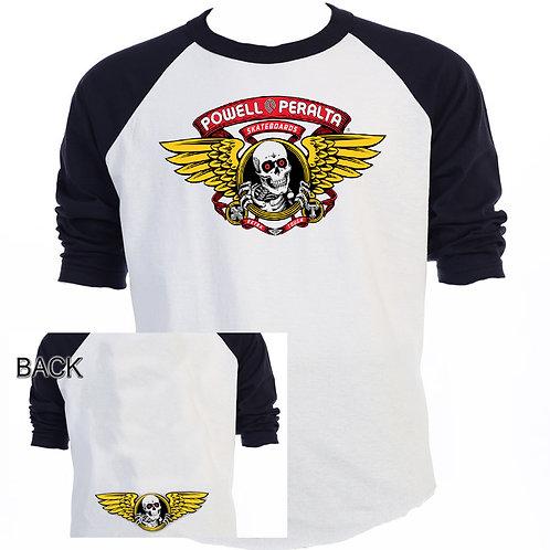 POWELL PERALTA,Logo Skateboard SHIRT T-900Blk
