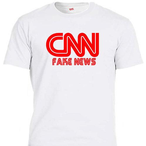 CNN FAKE NEWS!!!! White T-SHIRT T-1199