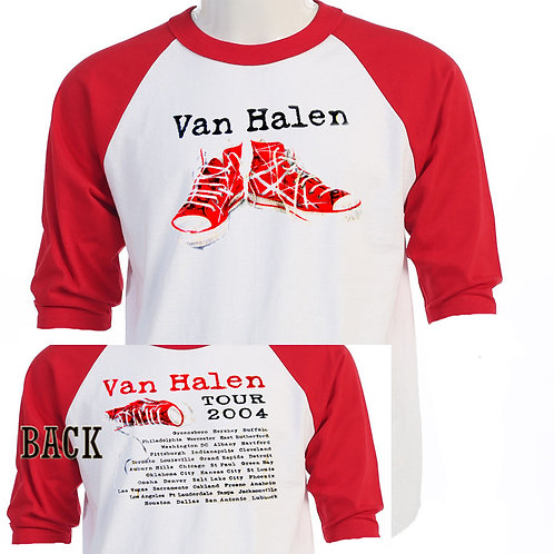 "VAN HALEN,""04 US TOUR"" Retro Seekers Baseball T"