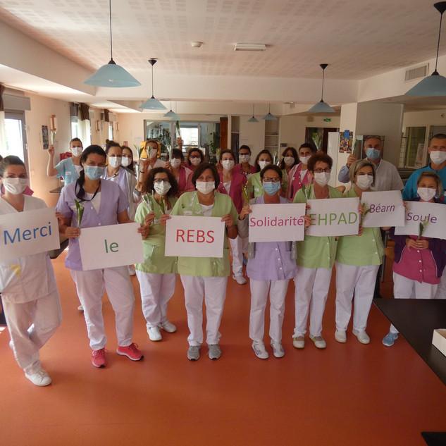 Réseau des EHPAD de Béarn et Soule : réception du muguet