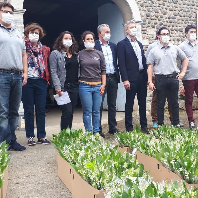 Réseau des EHPAD de Béarn et Soule : départ du muguet