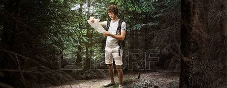 Guy lost in the woods