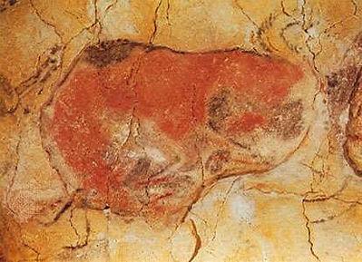 Cave-painting-bison-Altamira-cave-Santan