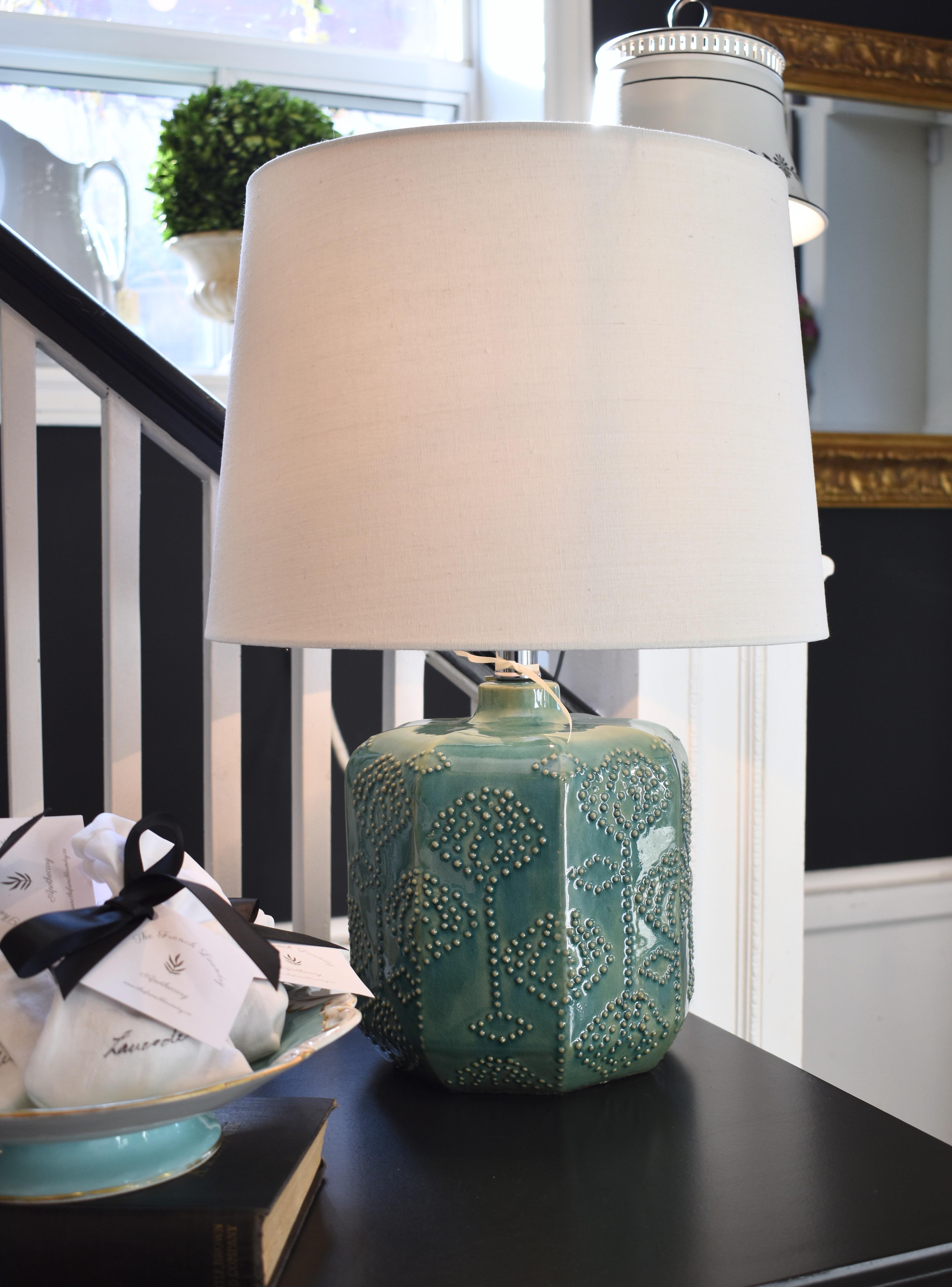 Ceramic Turquoise Lamp