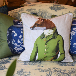 Designer Feather Accent - Fox in Green Jacket
